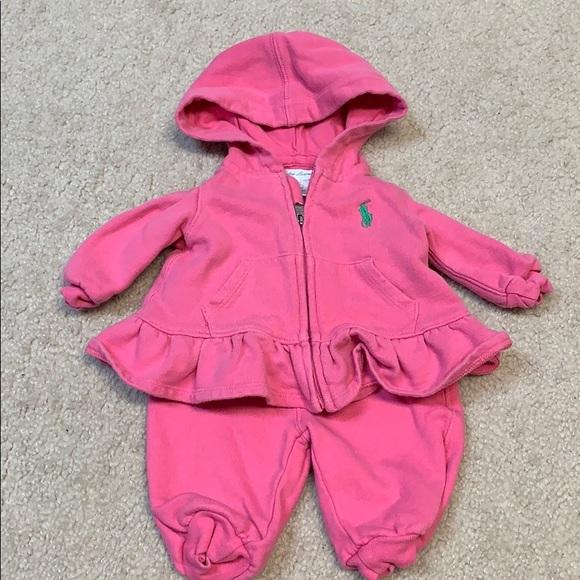 Ralph Lauren Other - Pink Ralph Lauren sweatsuit 3M
